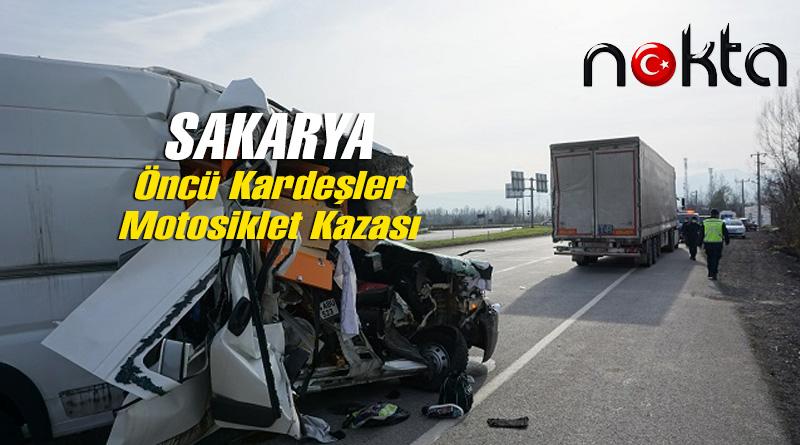 Milli motosikletçi Öncü kardeşler Sakarya'da kaza geçirdi